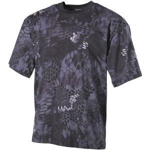 MFH T-shirt in Snake Black