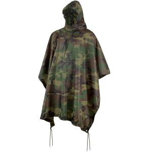 MFH poncho US in Ripstop Woodland