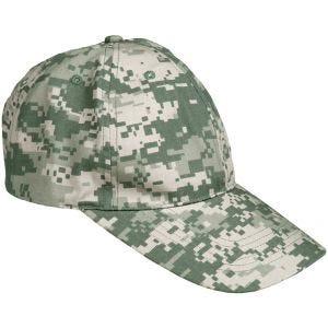 Mil-Tec cappellino da baseball con fibbia in metallo in Ripstop ACU Digital