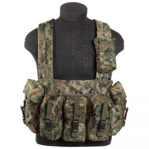 Mil-Tec Chest Rig in Digital Woodland