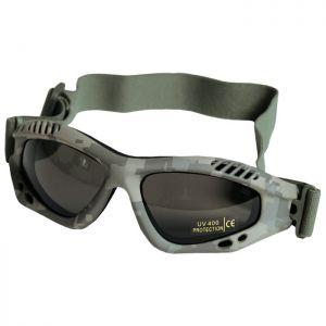 Mil-Tec occhialini protettivi Commando Air Pro a lenti fumé e struttura in ACU Digital