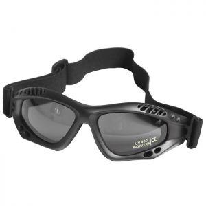 Mil-Tec occhialini protettivi Commando Air Pro a lenti fumé e struttura in nero