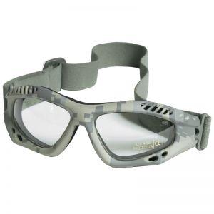 Mil-Tec occhialini protettivi Commando Air Pro a lenti chiare e struttura in ACU Digital