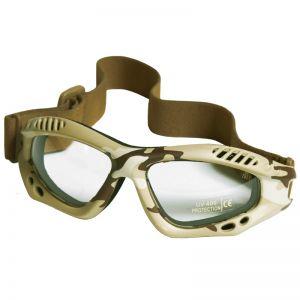 Mil-Tec occhialini protettivi Commando Air Pro a lenti chiare e struttura in Desert