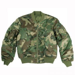 Mil-Tec giacca da pilota MA-1 in Woodland
