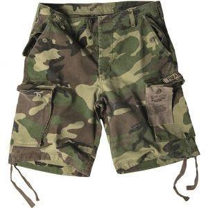 Mil-Tec shorts cargo da paracadutista prelavati in Woodland