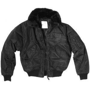 Mil-Tec giacca CWU-45P con colletto in pellicciotto in nero