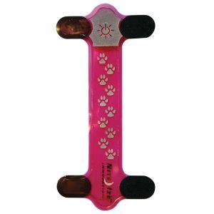 Nite Ize copertura per collare Nite Dawg in rosa con LED rosso