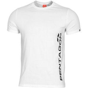 Pentagon T-shirt Ageron Pentagon Vertical in bianco