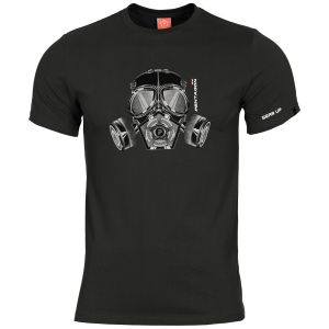 Pentagon T-shirt Ageron Gas Mask in nero
