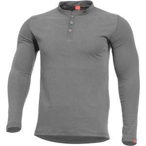 Pentagon maglietta Romeo in stile Henley in Wolf Grey