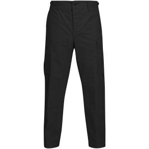 Propper pantaloni BDU con patta a bottoni in policotone Ripstop in nero