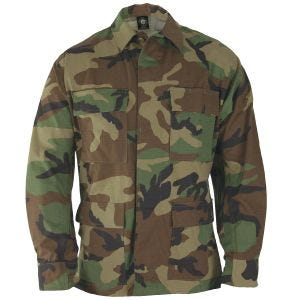 Propper giacca BDU Uniform in policotone Ripstop in Woodland