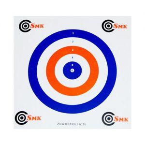 SMK bersagli in carta 14 cm rosso/bianco/blu (confezione da 100)