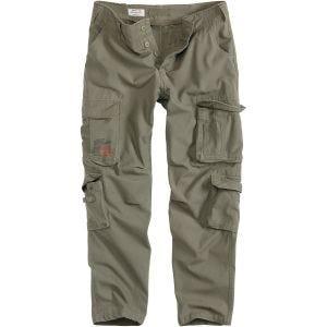 Surplus pantaloni Airborne Slimmy in verde oliva effetto slavato