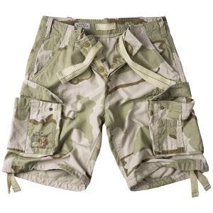 Surplus shorts vintage effetto slavato Airborne in 3-Colour Desert