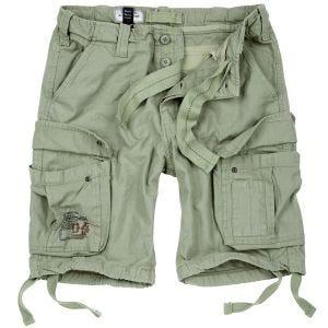 Surplus shorts vintage effetto slavato Airborne in Light Olive