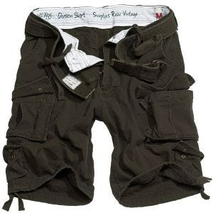 Surplus shorts Division in marrone
