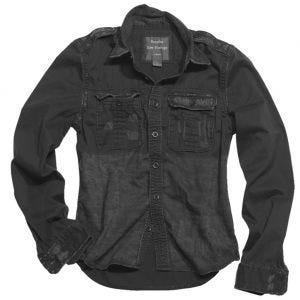Surplus camicia a maniche lunghe vintage Raw in nero