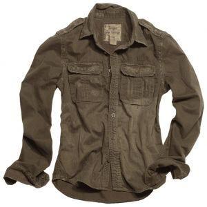 Surplus camicia a maniche lunghe vintage Raw in marrone