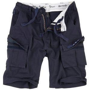 Surplus pantaloni bermuda Stars in blu scuro