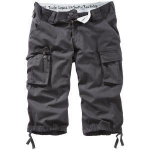 Surplus pantaloni a 3/4 Trooper Legend in nero effetto slavato