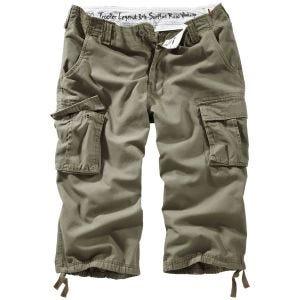 Surplus pantaloni a 3/4 Trooper Legend in verde oliva effetto slavato