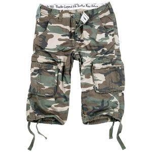 Surplus pantaloni a 3/4 Trooper Legend in Woodland effetto slavato