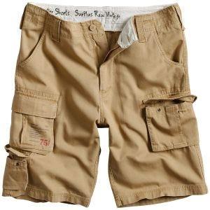 Surplus pantaloni corti Trooper in beige effetto slavato
