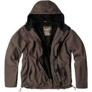 Surplus giacca a vento con zip in marrone