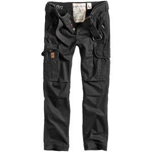 Surplus pantaloni Premium Slimmy in nero effetto slavato