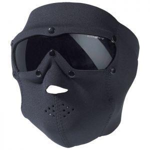 Swiss Eye maschera viso in neoprene con occhiali protettivi integrati in nero/lenti fumo