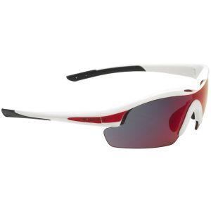 Swiss Eye occhiali da sole Novena - 3 lenti / montatura in bianco e rosso opaco