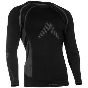 Tervel maglia a maniche lunghe Optiline MOD-02 in nero / grigio