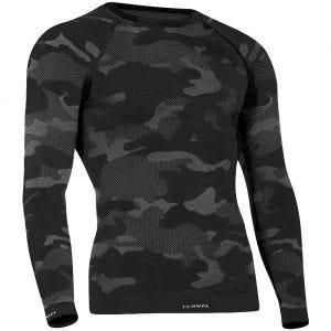 Tervel maglia tattica a maniche lunghe Optiline in nero / grigio