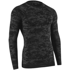 Tervel maglia a maniche lunghe Optiline Digital in nero / grigio