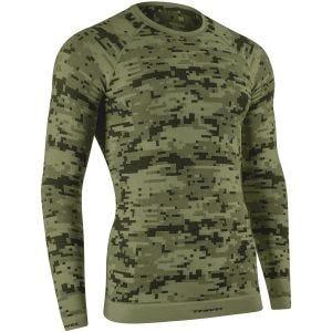 Tervel maglia a maniche lunghe Optiline Digital in Military / grigio