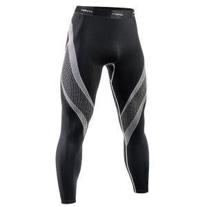 Tervel leggings da corsa Optiline in nero / grigio chiaro