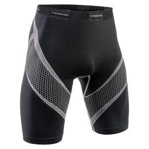 Tervel shorts da corsa Optiline in nero / grigio chiaro