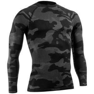 Tervel maglia tattica a maniche lunghe Optiline Light in nero/grigio
