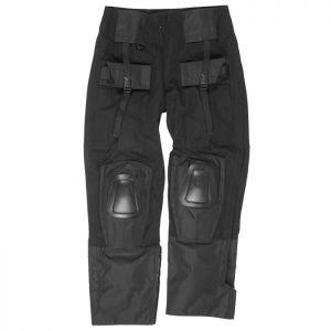 Mil-Tec pantaloni Warrior con ginocchiere in nero