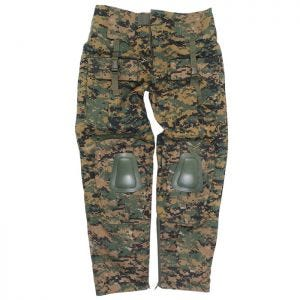 Mil-Tec pantaloni Warrior con ginocchiere in Digital Woodland