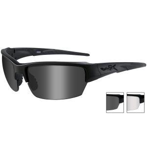 Wiley X occhiali WX Saint con lenti fumé grigie + lenti trasparenti e struttura in nero opaco