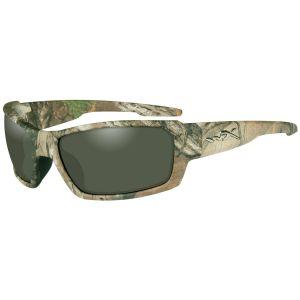 Wiley X occhiali WX Rebel con lenti polarizzate verdi e struttura in Xtra Camo