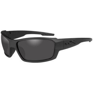 Wiley X occhiali WX Rebel con lenti fumé grigie e struttura in nero opaco
