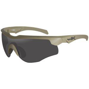 Wiley X occhiali WX Rogue COMM con lenti fumé grigie + lenti trasparenti + lenti ruggine chiaro e struttura in Tan