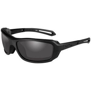 Wiley X occhiali WX Wave con lenti fumé grigie e struttura in nero opaco
