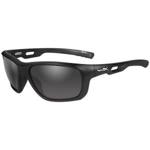 Wiley X occhiali WX Aspect con lenti fumé grigie e struttura in nero opaco