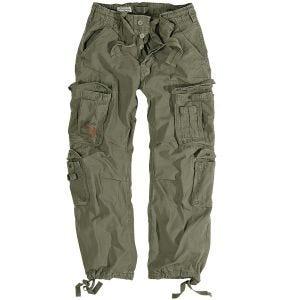 Surplus pantaloni vintage Airborne in verde oliva