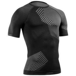 Tervel maglia a maniche corte Optiline in nero / grigio